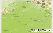 Physical 3D Map of Gujarat