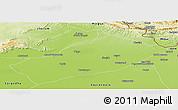 Physical Panoramic Map of Gujarat