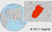 Gray Location Map of Punjab