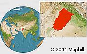 Satellite Location Map of Punjab
