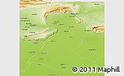 Physical Panoramic Map of Mainwali