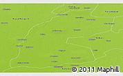 Physical Panoramic Map of Multan