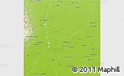 Physical Panoramic Map of Muzaffargarh