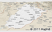 Classic Style Panoramic Map of Punjab