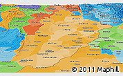 Political Shades Panoramic Map of Punjab