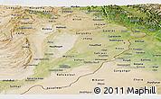 Satellite Panoramic Map of Punjab