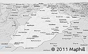 Silver Style Panoramic Map of Punjab