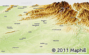 Physical Panoramic Map of Rawalpindi