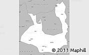 Gray Simple Map of Rawalpindi