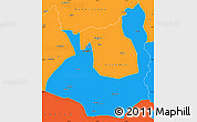 Political Simple Map of Rawalpindi