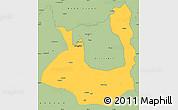 Savanna Style Simple Map of Rawalpindi