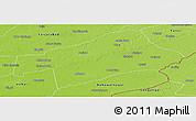 Physical Panoramic Map of Sahiwal