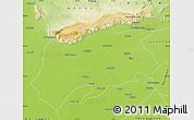 Physical Map of Sargodha