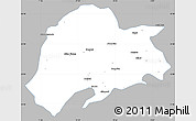 Gray Simple Map of Sargodha, single color outside