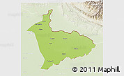 Physical 3D Map of Sialkot, lighten