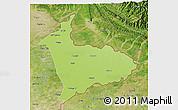Physical 3D Map of Sialkot, satellite outside