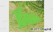 Political 3D Map of Sialkot, satellite outside