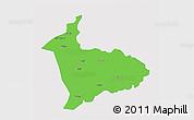 Political 3D Map of Sialkot, single color outside