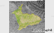 Satellite 3D Map of Sialkot, desaturated