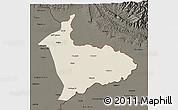 Shaded Relief 3D Map of Sialkot, darken
