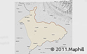Shaded Relief 3D Map of Sialkot, desaturated