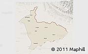 Shaded Relief 3D Map of Sialkot, lighten