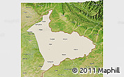 Shaded Relief 3D Map of Sialkot, satellite outside