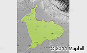 Physical Map of Sialkot, desaturated