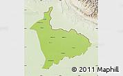 Physical Map of Sialkot, lighten