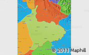 Physical Map of Sialkot, political outside