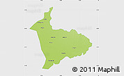Physical Map of Sialkot, single color outside