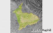 Satellite Map of Sialkot, desaturated