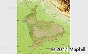 Satellite Map of Sialkot, physical outside