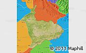 Satellite Map of Sialkot, political outside