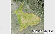Satellite Map of Sialkot, semi-desaturated