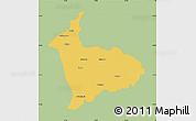 Savanna Style Map of Sialkot, single color outside