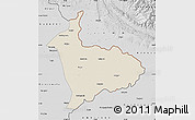 Shaded Relief Map of Sialkot, desaturated