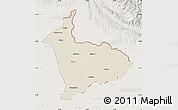 Shaded Relief Map of Sialkot, lighten
