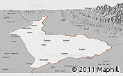 Gray Panoramic Map of Sialkot