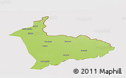 Physical Panoramic Map of Sialkot, cropped outside