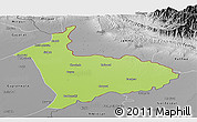 Physical Panoramic Map of Sialkot, desaturated
