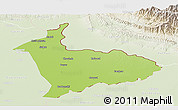 Physical Panoramic Map of Sialkot, lighten
