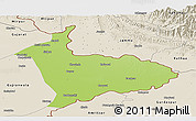 Physical Panoramic Map of Sialkot, shaded relief outside