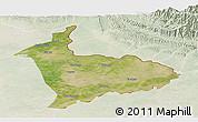 Satellite Panoramic Map of Sialkot, lighten