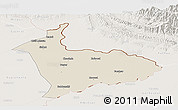 Shaded Relief Panoramic Map of Sialkot, lighten