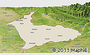 Shaded Relief Panoramic Map of Sialkot, satellite outside