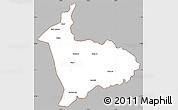 Gray Simple Map of Sialkot, cropped outside