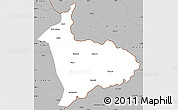 Gray Simple Map of Sialkot