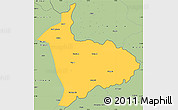 Savanna Style Simple Map of Sialkot