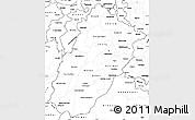 Blank Simple Map of Punjab